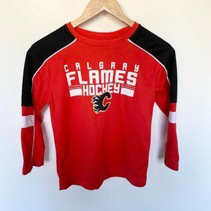 NHL Official Calgary Flames Kids Hockey Jersey XS